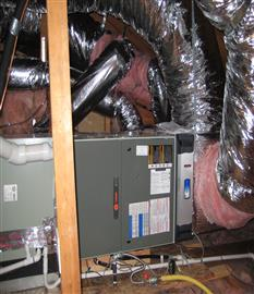 HVAC split system - Ready for duct testing