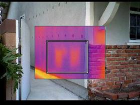 Infrared photo - missing insulation
